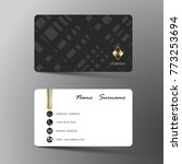 modern business card template... | Shutterstock .eps vector #773253694