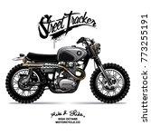 vintage  motorcycle poster | Shutterstock .eps vector #773255191