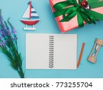 christmas decoration background ... | Shutterstock . vector #773255704