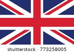 flag of united kingdom original | Shutterstock .eps vector #773258005