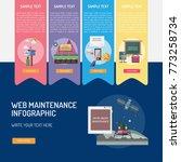 web maintenance infographic | Shutterstock .eps vector #773258734