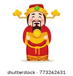 chinese god of wealth. chinese...   Shutterstock .eps vector #773262631