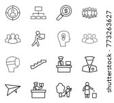 thin line icon set   target... | Shutterstock .eps vector #773263627