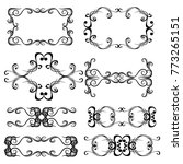decorative monograms and... | Shutterstock .eps vector #773265151