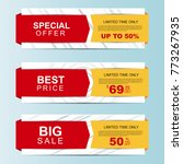 sale banners. special offer ... | Shutterstock . vector #773267935