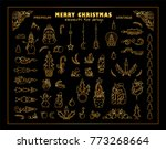 vector set of christmas ... | Shutterstock .eps vector #773268664