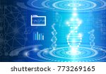 abstract background technology... | Shutterstock .eps vector #773269165