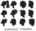hairstyles   vector black...   Shutterstock .eps vector #77326933