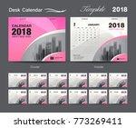 set desk calendar 2018 template ... | Shutterstock .eps vector #773269411