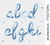 3d font. transparent letters a  ... | Shutterstock .eps vector #773271091