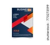 brochure design template vector.... | Shutterstock .eps vector #773273599