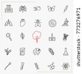 biology line icons set | Shutterstock .eps vector #773276971