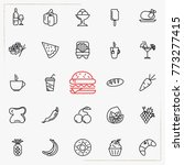 food icon set  outline style | Shutterstock .eps vector #773277415