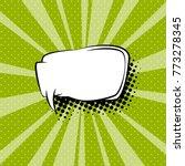 retro sunbeam and speech bubble ... | Shutterstock .eps vector #773278345
