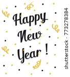 2018 happy new year   Shutterstock .eps vector #773278384
