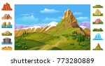 cartoon colorful nature... | Shutterstock .eps vector #773280889