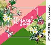 Tropical Flowers Summer Design...