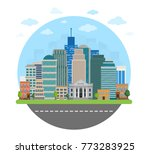 cityscape from round form... | Shutterstock .eps vector #773283925