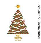 merry christmas tree | Shutterstock .eps vector #773284927