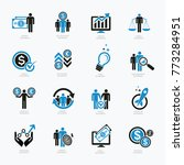 business and financial icon set ... | Shutterstock .eps vector #773284951