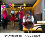 wine glass with group of friend ... | Shutterstock . vector #773285005
