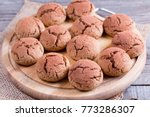 cookies chocolate crinkles on a ... | Shutterstock . vector #773286307