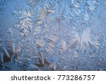frosty natural pattern on... | Shutterstock . vector #773286757