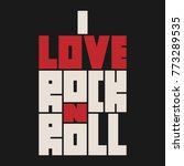 rock n roll lettering with... | Shutterstock .eps vector #773289535