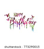 happy birthday colorful... | Shutterstock .eps vector #773290015