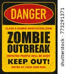 halloween warning sign danger... | Shutterstock . vector #773291371
