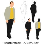 vector isolated silhouette man... | Shutterstock .eps vector #773293729