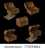 treasure chest with treasure 3d ... | Shutterstock . vector #773293861