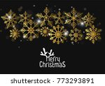 merry christmas greeting card... | Shutterstock .eps vector #773293891