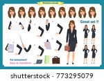 set of businesswoman character... | Shutterstock .eps vector #773295079