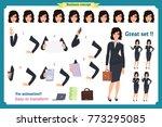 set of businesswoman character... | Shutterstock .eps vector #773295085