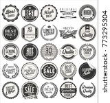 retro vintage badges vector... | Shutterstock .eps vector #773295304