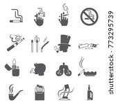 cigarette icon and no smoking... | Shutterstock .eps vector #773295739