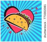 bright retro comic speech... | Shutterstock .eps vector #773302081