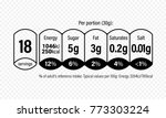 nutrition facts information... | Shutterstock .eps vector #773303224