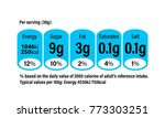 nutrition facts information... | Shutterstock .eps vector #773303251