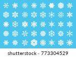 christmas snow vector icon set | Shutterstock .eps vector #773304529
