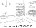 grocery store shop interior... | Shutterstock .eps vector #773306995