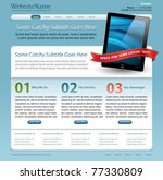 web site template with touch... | Shutterstock .eps vector #77330809