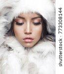 fashion studio portrait of... | Shutterstock . vector #773308144