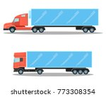 trucks with small cubic and... | Shutterstock .eps vector #773308354