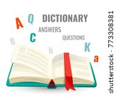 dictionary with all answers to... | Shutterstock .eps vector #773308381