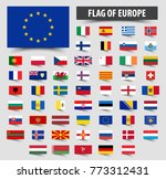 set of official flags of europe ... | Shutterstock .eps vector #773312431