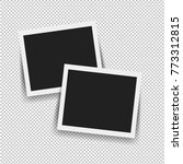 photo frame isolated with... | Shutterstock .eps vector #773312815