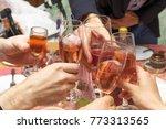 glass of alcohol shorten the... | Shutterstock . vector #773313565