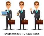 business man cartoon character. ... | Shutterstock .eps vector #773314855